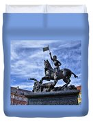 St Vitus Cathedral - St George Statue  Duvet Cover