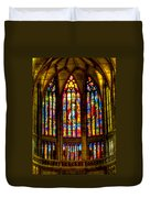 St Vitus Main Altar Stained Glass Duvet Cover