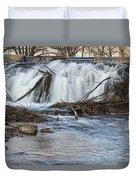 St Vrain River Waterfall Slow Flow Duvet Cover
