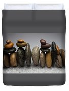 Stacked River Stones Duvet Cover