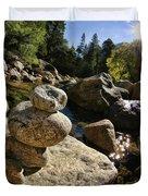 Stacked Rocks Duvet Cover