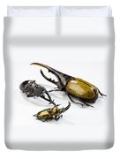 Stag Beetles Duvet Cover