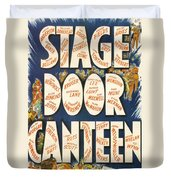 Stage Door Canteen Duvet Cover by Georgia Fowler