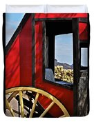 Stagecoach View Duvet Cover