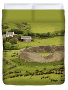 Staigue Fort, Kerry Duvet Cover