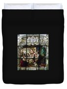 Stained Glass Family Giving Thanks Duvet Cover