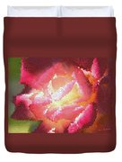 Stained Glass Rose Duvet Cover