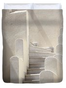 Stairs In Greece Duvet Cover