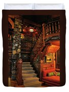 Stairway In Gillette Castle Connecticut Duvet Cover