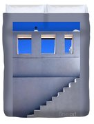 Stairway In Iao Greece Duvet Cover