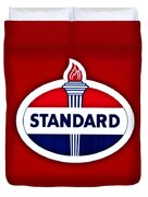 Standard Oil Sign Duvet Cover