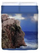 Standing At The Edge Of Time Duvet Cover