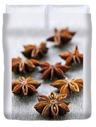 Star Anise Fruit And Seeds Duvet Cover