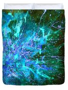 Star Burst In The Milky Way Duvet Cover