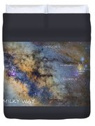 Star Map Version The Milky Way And Constellations Scorpius Sagittarius And The Star Antares Duvet Cover