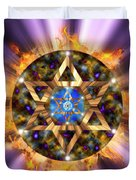 Star Of David Three Duvet Cover