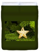 Star Shape Short Bread Cookie Duvet Cover