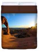 Starburst At Delicate Arch Duvet Cover