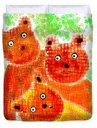 Stargazing Teddy Bears Duvet Cover