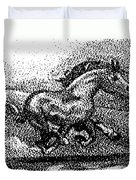 Startled Equus Duvet Cover