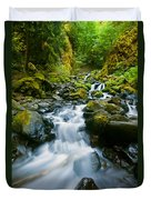 Starvation Creek Falls Duvet Cover