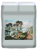 Staten Island And The Narrows, 20th Duvet Cover