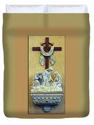 Station Of The Cross 13 Duvet Cover