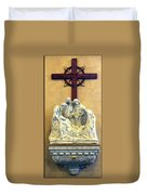 Station Of The Cross 14 Duvet Cover