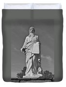 Statue 01 Black And White Duvet Cover