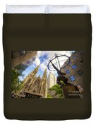 Statue And Spires Duvet Cover