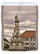 Statue At St Matthias Church Duvet Cover