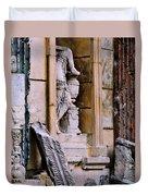Statue In A Niche Duvet Cover