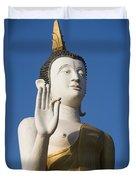 Statue Of Buddha At Wat That Luang Tai Duvet Cover