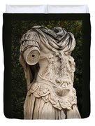 Statue Of Greek Soldier Duvet Cover