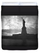 Statue Of Liberty At Sunset Duvet Cover