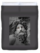 Statue With Eyes Duvet Cover
