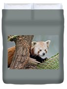 Stealthy Red Panda Duvet Cover
