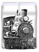 steam Engine pencil sketch Duvet Cover