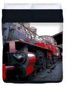 Steam Punk Railroad Duvet Cover