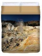 Steaming Organge Crust Duvet Cover