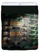 Steampunk - Naval - Electric - Lighting Control Panel Duvet Cover