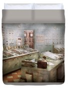 Steampunk - Retro - The Power Station Duvet Cover