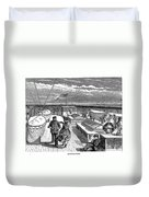 Steamships: Deck, 1870 Duvet Cover