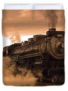 Steamtown Engine 2317 Duvet Cover