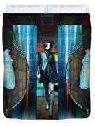 Steel Eyes Mannequin Duvet Cover