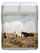 Steens Wild Horses Duvet Cover