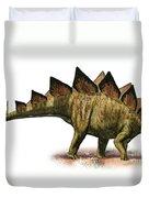 Stegosaurus Armatus, A Prehistoric Era Duvet Cover