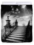 Steps At Chateau Vieux Duvet Cover