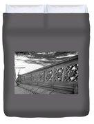 Steps Of Central Park In Black And White Duvet Cover