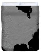 Stereoscopic View Of North America Duvet Cover